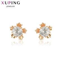 Xuping ต่างหูใหม่ออกแบบทองคำชุบแฟชั่นเครื่องประดับต่างหูผู้หญิงคริสต์มาสของขวัญ Y4-XE2017 Elegant