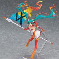 2016 Figma Miku Racing Girl Japanese Anime Figures Pvc Model Collection One Piece Action Figure For Christmas/birthday Gift