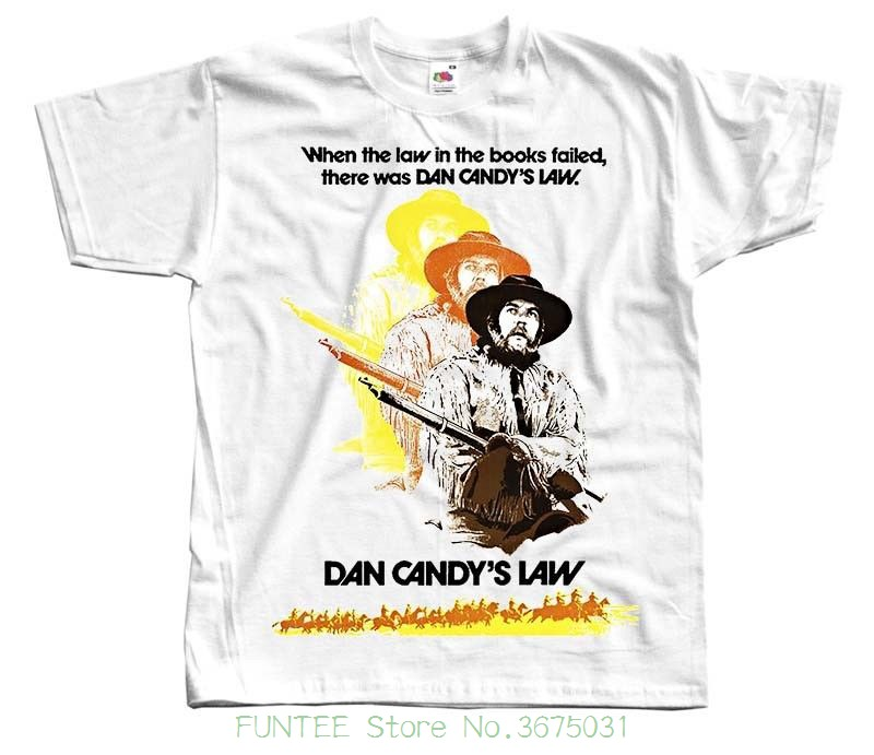 Fashion New Top Tees Tshirts Dan Candy's Law , Movie Poster , 1974 , T Shirt White All Sizes S To 5xl image
