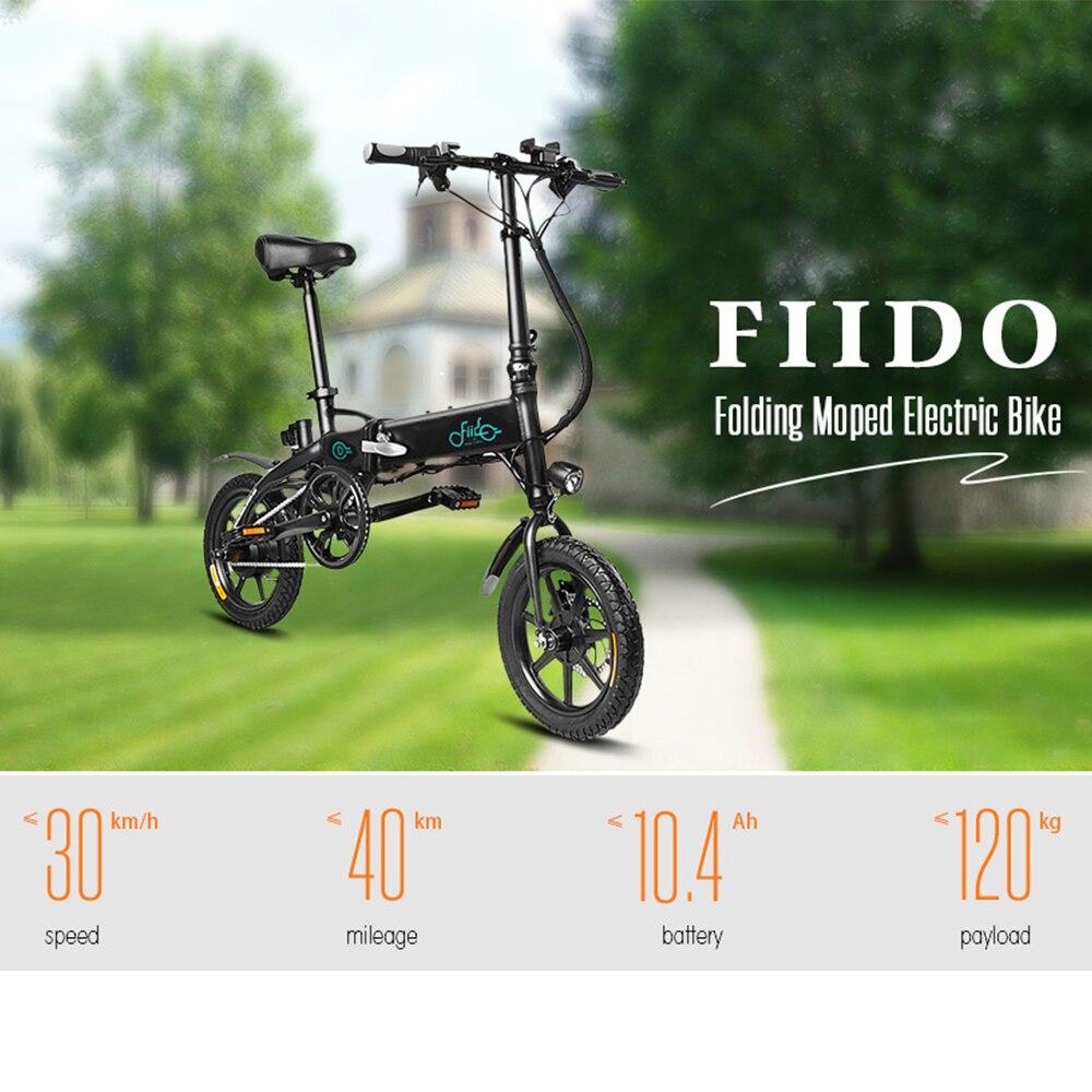 FIIDO D1 Mini vélo électrique en alliage d'aluminium Smart pliant vélo électrique cyclomoteur vélo frein à disque EU Plug livraison gratuite