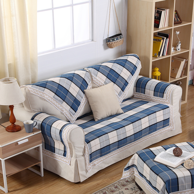 popular blue plaid couch buy cheap blue plaid couch lots. Black Bedroom Furniture Sets. Home Design Ideas