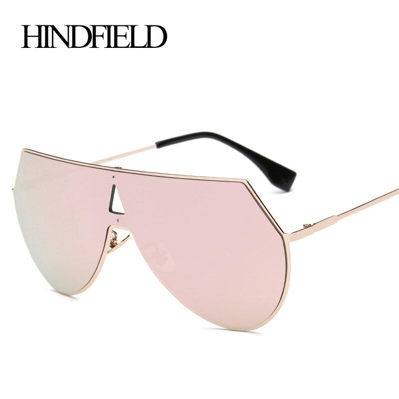 HINDFIELD 2017 Fashion Big Metal Frame Women Sunglasses Korea Brand Designer Big Sports Men Sun Glasses Shades Oculos