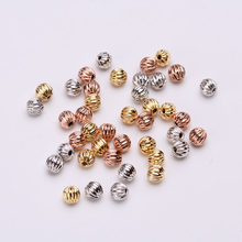 Spacer beads ball 5MM Metal Round Loose beads for Jewelry bracelet making DIY accessories Findings(China)
