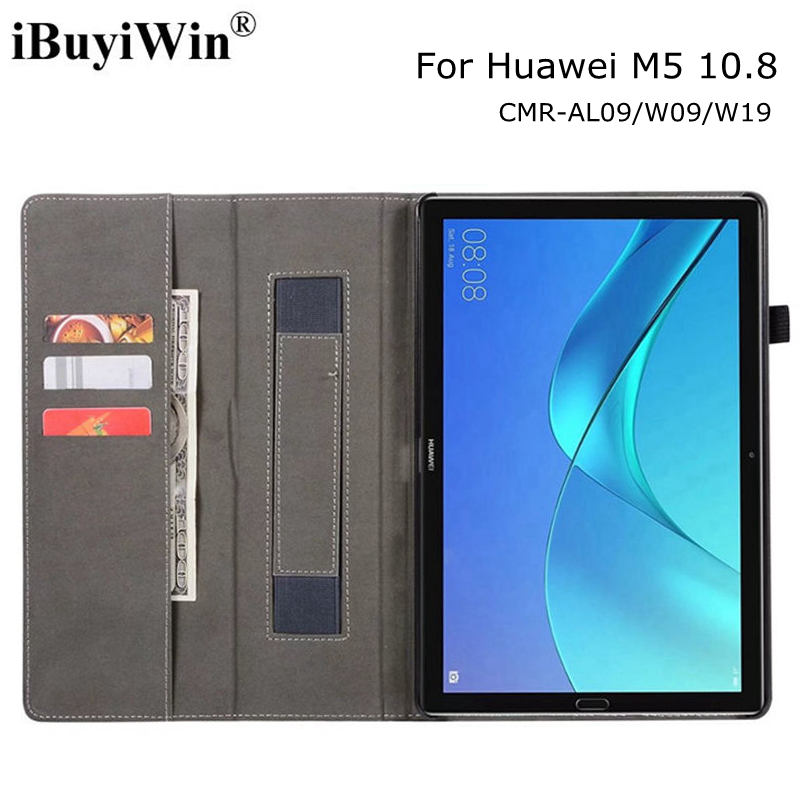 Case for Huawei MediaPad M5 Pro 10.8 CMR-AL09/W09/W19 Tablet, Magnetic Smart PU Leather Funda Cover With Auto Sleep/Wake+Gifts