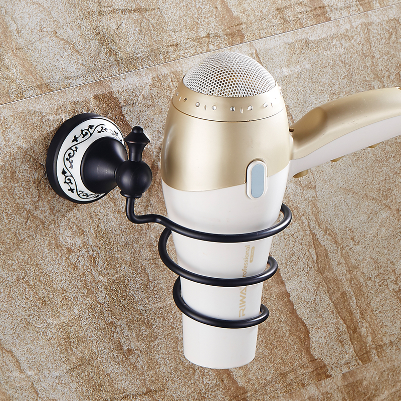 Free Shipping Bathroom Wall Shelf Wall-mounted Hair Dryer Rack Storage Hairdryer Support Holder Spiral Stand SY-084R