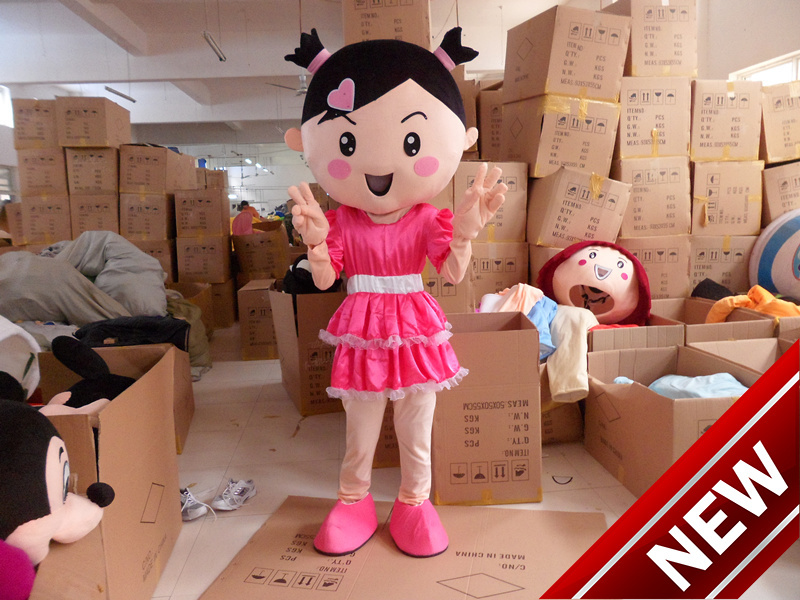 2017 New Mascot Costumes For Adults Christmas Halloween Outfit Fancy Dress Suit Free Shipping Pink Girl
