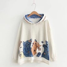 Kawaii Cat Printed Hoodies
