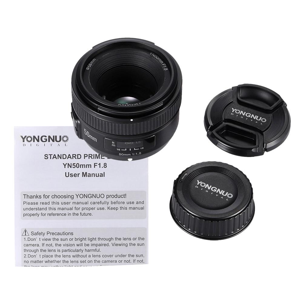 YONGNUO YN50mm F1.8 Large Aperture AF Auto Focus FX DX Full Frame ...
