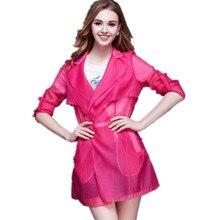 France USA Spring Europe Sun Protection Patch Organza Cloth Elegant Eropean Cardigan Jacket Top Dress OL Girl Women Outerwear