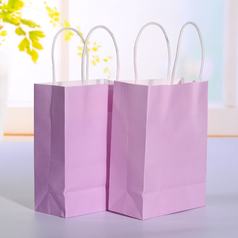 40pcslot light purple kraft paper bag with handle wedding party 40pcslot light purple kraft paper bag with handle wedding party favor paper gift bags 21158cm in gift bags wrapping supplies from home garden on jeuxipadfo Choice Image