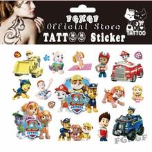 FGHGF 10PCS Cute Dog Agent Երեխայի ժամանակավոր մարմնի արվեստի Flash Tattoo Sticker 17 * 10cm Անջրանցիկ անգույն դաջվածք