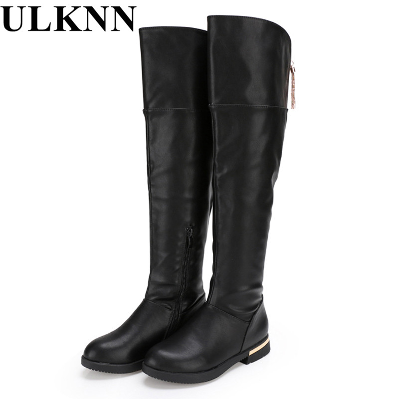 ULKNNgenuine leather thigh high boots Girls for winter kids shoes  childrens snow child ever after high boots  Boots for girlsULKNNgenuine leather thigh high boots Girls for winter kids shoes  childrens snow child ever after high boots  Boots for girls
