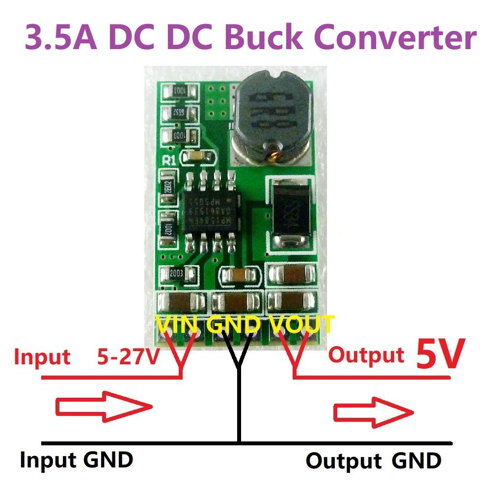 20pcs DD2712SA 3.5A Mini 5V-27V to 5V DC DC Step Down Buck Power Converter Module Voltage Regulator