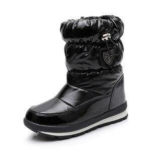 Image 5 - ULKNNฤดูหนาวรองเท้าสำหรับชายหญิงเด็กรองเท้า2018ใหม่กันน้ำBotasหนาSnow Gold Darkสีเขียว26 27 28 29 30ขนาด