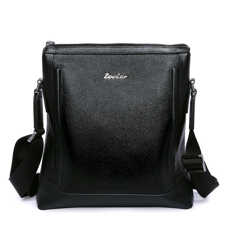 Genuine Leather Crossbody Messenger Shoulder Bag Men Business Cowhide Tote High Quality Travel Casual Male Bags  LJ-962 men business travel crossbody shoulder handbags bag luxury style messenger bag high quality large capacity genuine leather bags