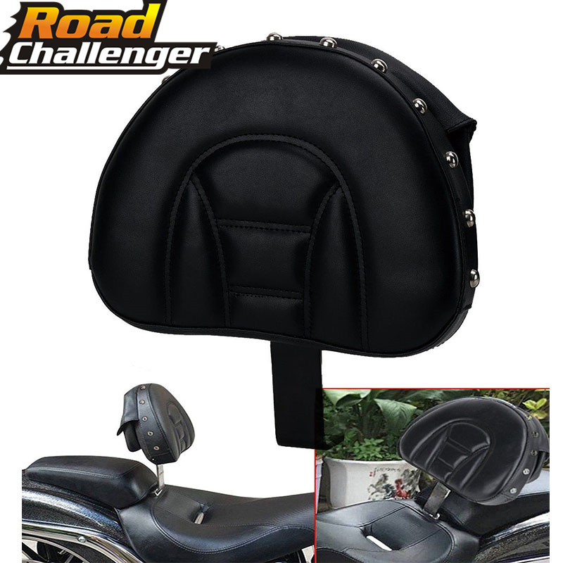 Backrest Black Adjustable Plug In Driver Rider Seat Cushion Pad Motorcycle For Harley Fatboy Heritage Softail 2007-2016 2017 Backrest Black Adjustable Plug In Driver Rider Seat Cushion Pad Motorcycle For Harley Fatboy Heritage Softail 2007-2016 2017