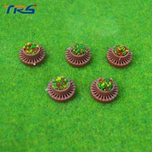 Teraysun 1/50-150 scale Building material sand table model DIY Outdoor Scene Layout Minimature Round Flower Terrace/Flower Bed