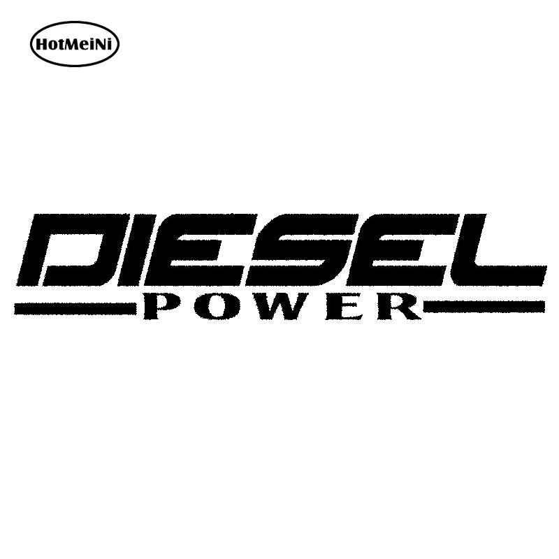 HotMeiNi Diesel Power JDM Vinyl decal Car Sticker Powerstroke Truck Diesel Soot Stacks Black/Sliver Styling Accesso 18*3.5cm