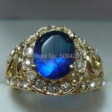 Xfs20141er >> ювелирные синий кристалл мозаика искусственный циркон кольцо н. г