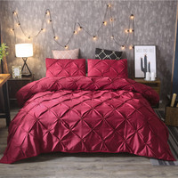 Solid Color Bedding Set Luxury Duvet Cover Sets Cotton Bedding Linen Full Bed Clothes Fabric King Comforter Bedding Sets Cotton