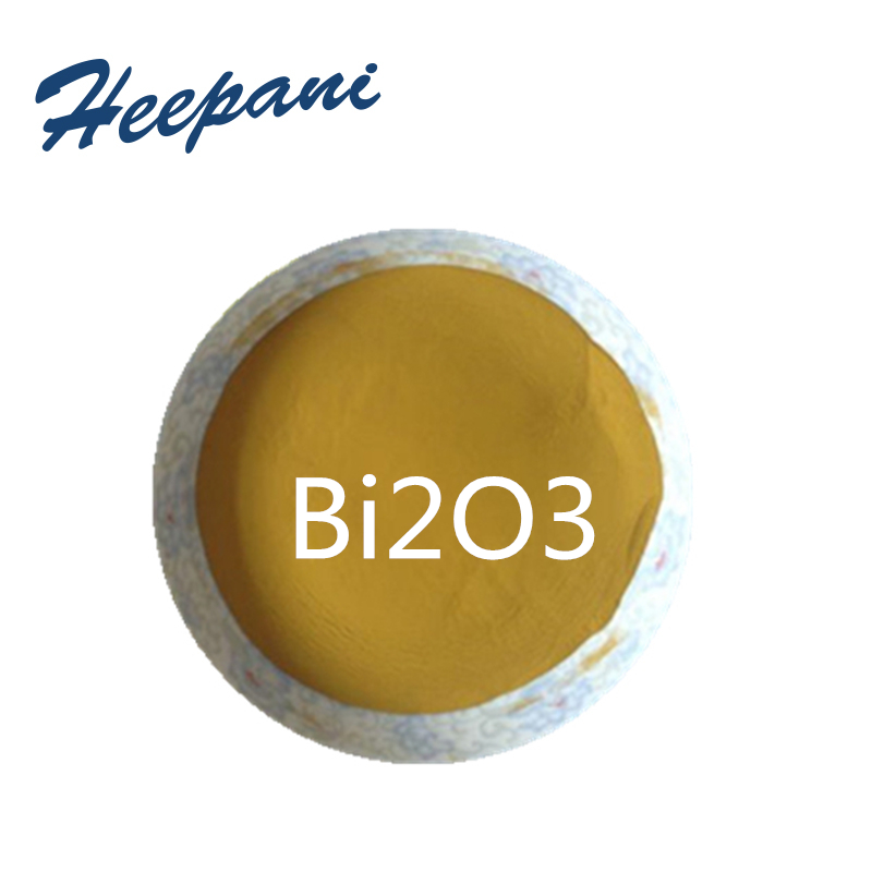 Free Shipping 99.9% Purity Nanoparticle Bismuth Trioxide Powder 50nm Bi2O3 Yellow Bismuth Oxide Powder For Electronic Components