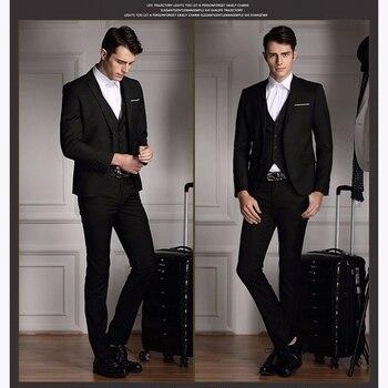 b50de6420514 2017 gris italiano hombres traje de boda trajes de padrino 3 piezas  (chaqueta + Pantalones + ...