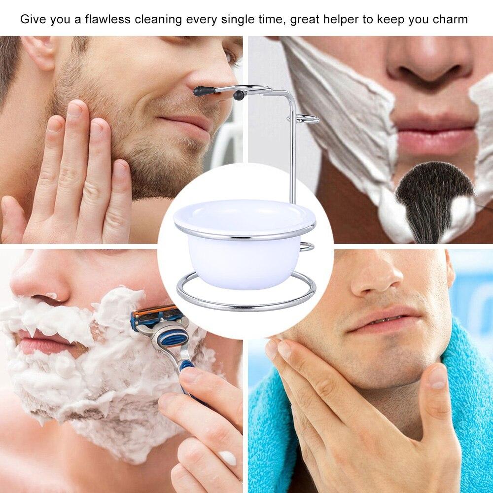 2 in 1 Men's Shaving Brush Holder & Soap Bowl Male Beard Shaving Kit Soap Bowl Shaving Stand Male Facial Shaving Clean Set 5