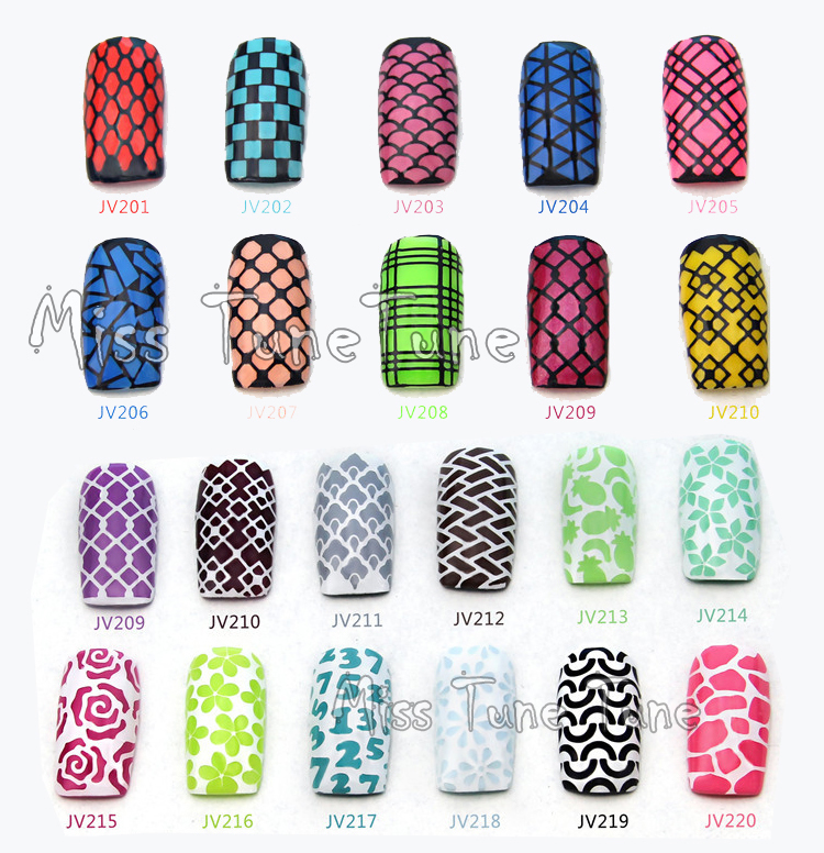 NEW Easy Use Nail Art Stamping Stencils Template Tips Vinyls Guides Design Stickers Recycle In Decals From Beauty Health On Aliexpress