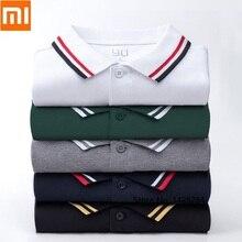 Xiaomi 90 punten klassieke Mode revers voor shirt Cool en zijdeachtige Patchwork rib Mannen Korte Mouw Hoge Hoeveelheid Polo mannelijke