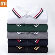 Xiaomi 90 נקודות קלאסי אופנה דש עבור חולצה מגניב ומשיי טלאי צלעות גברים קצר שרוול גבוהה כמות פולו זכר
