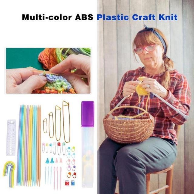52 pcs Kit Multicor Croch Ganchos Agulhas de Tric Conjunto de Ferramentas De Costura Acess rios