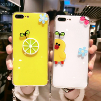 Lemon Cute Rabbit Case For IPhone 7 7plus Luxury Phone Cover For IPhone 6 6s Plus