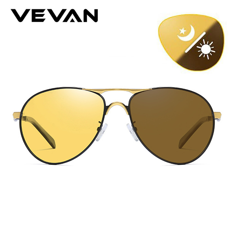 a961835331 Quality Photochromic Day Night Vision Goggles Driver Eyeglasses Polarized  Sunglasses Men Yellow Lens Car Driving Glasses
