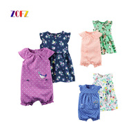 ZOFZ 2pcs Baby Girl Clothes Summer Casual Cute Baby Set Short Romper Baby Dress Suit For