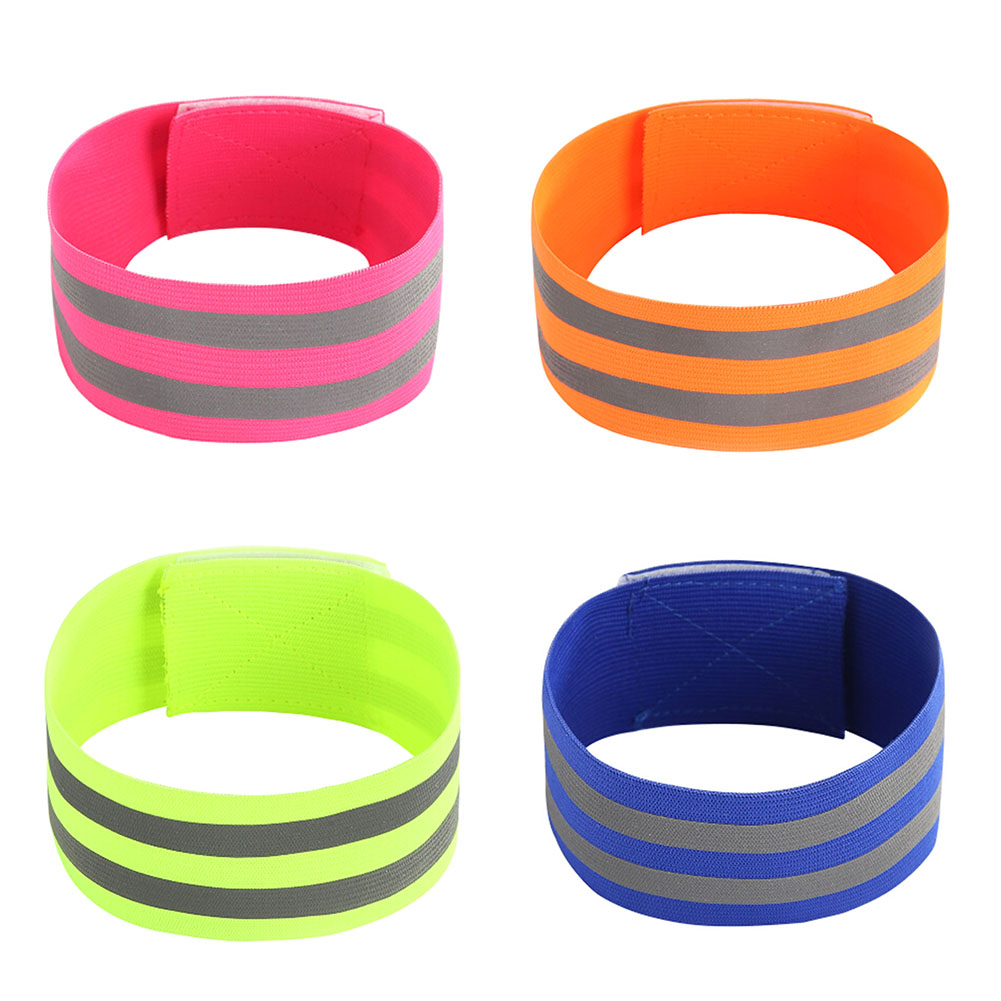 High Visibility Double Reflective Wristband Bracelet Band Running Night Cycling Jogging Safety Reflector Armband