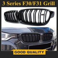 1 paar F30 Auto Styling Grill M3 Stijl F31 Nier Zwart Vervanging Grille Voor BMW F30 F31 2012 + 320i 325i 328i 335i Gloss Black