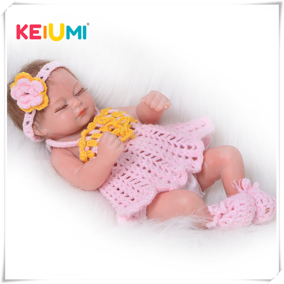 Lovely 11 Inch Reborn Baby Dolls Full Silicone 27cm Simulation Girl Babies Doll Sleeping Alive Baby Toys For Kids Birthday GiftsLovely 11 Inch Reborn Baby Dolls Full Silicone 27cm Simulation Girl Babies Doll Sleeping Alive Baby Toys For Kids Birthday Gifts