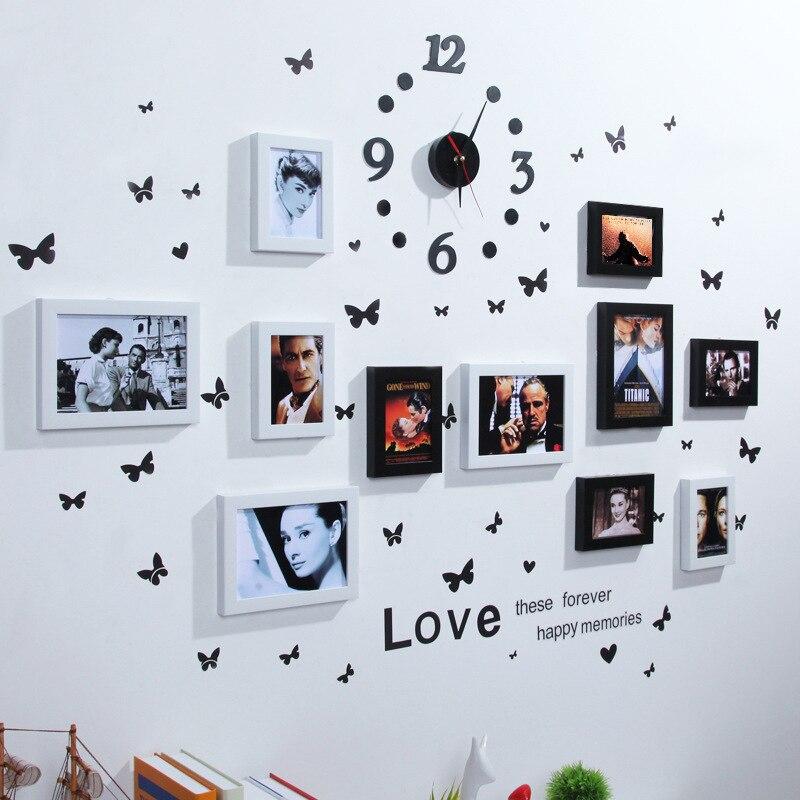 Conception de maison européenne mariage amour Photo cadre décoration murale cadre Photo ensemble pour autocollants muraux cadre Photo ensemble organisateur