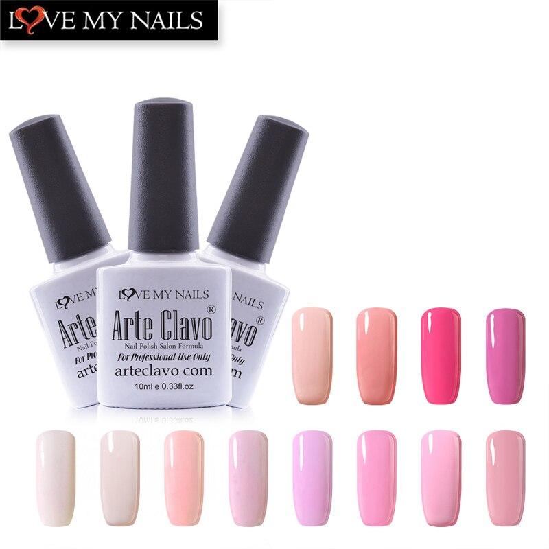 New Arrival 10 Ml Arte Clavo Pink Color Series Gel Nail Polish Soak Off Lacquer UV Gel Polish Led Lamp Nail Gel