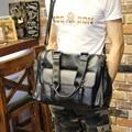 Large Capacity Men's Travel Shoulder Bag PU Leather Casual  Soft black Multifunctional Totes Handbag Zipper Spring bag #165