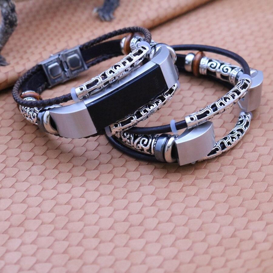 Für Fitbit Alta HR Band Echtes Leder Armband Armband Ersatz Retro Uhr Band Strap für Fitbit Alta Bandje Zubehör