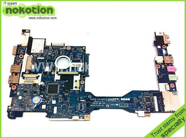 PAV70 LA-6221P MBSDF02001 MB.SDF02.001 laptop motherboard For acer aspire one D255 D255E Atom N450 1.6GHz mainboard