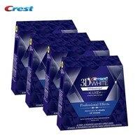 4 Box/160 полоски 80 сумки оригинальный крест 3D White LUXE профессиональные эффекты зубные гигиена полости рта Отбеливание зубов