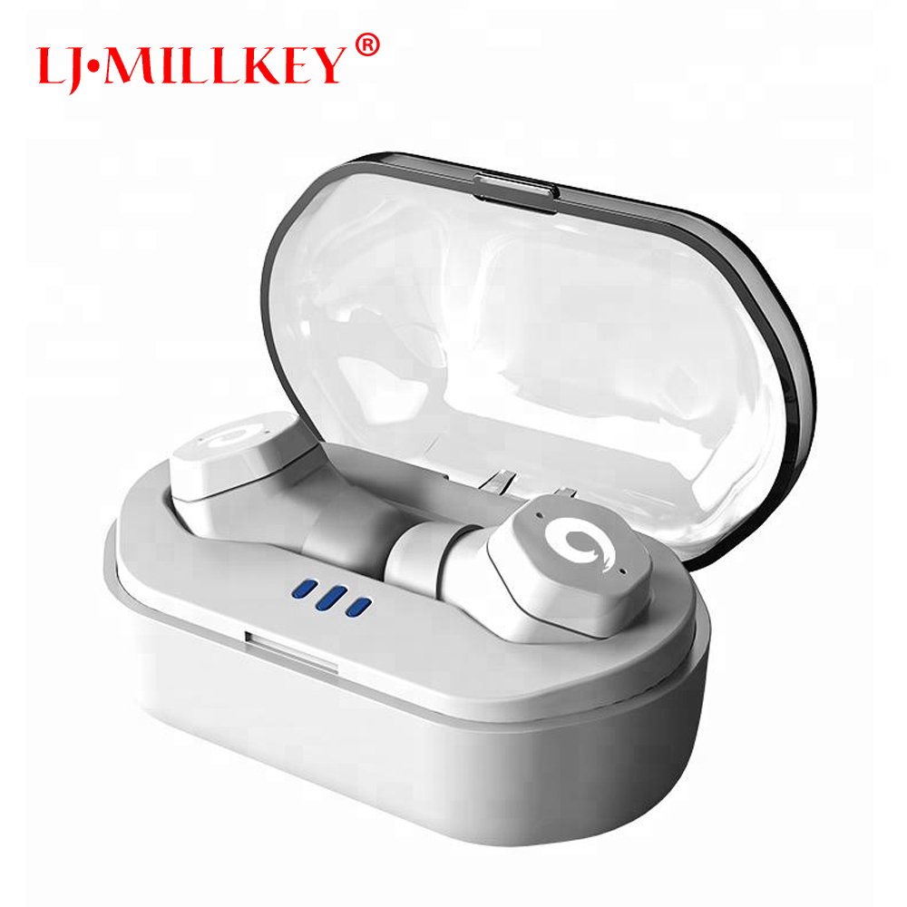 True IPX7 Waterproof Wireless Earbuds with Charging Box Mini Touch Control Wireless TWS Bluetooth Earphone for phone YZ186 ipx7 touch control tws bluetooth earphone stereo music in ear type v5 0 sport waterproof true wireless earbuds with charging box