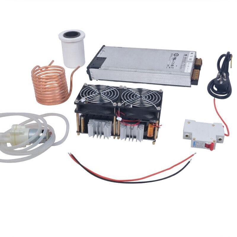 2500 W ZVS chauffage par Induction chauffage par Induction carte PCB chauffage Machine métal fondu + bobine Mayitr + creuset + pompe + alimentation