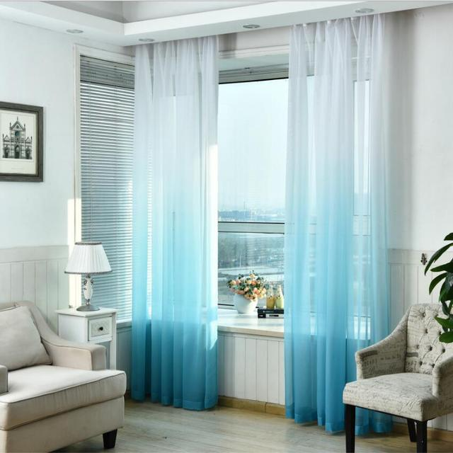 Dining Room Curtains Tulle Window Screening Blinds Sheer Voile Gauze Curtain For Living Kitchen