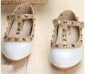 2016 Nuevos Niños de la zapatilla de deporte de Los Niños Zapatos de Charol Plana de La Muchacha Zapatos de Descuento tamaño 6.5 7.5 8 8.5 9 9.5 10.5 11 11.5 12.5 13