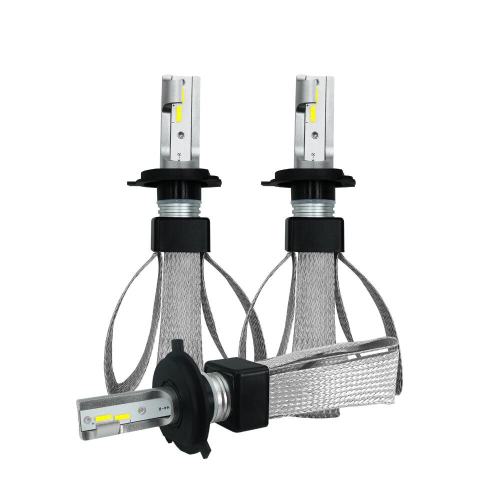 CARBINS LED 2 pièces H4 H7 LED Voiture Lumières H1 H11 H8 H9 9005 9006 Lampe de Phare De voiture Ampoules lumière LED 12 V 24 V 9600LM 6000 K Phares Antibrouillard