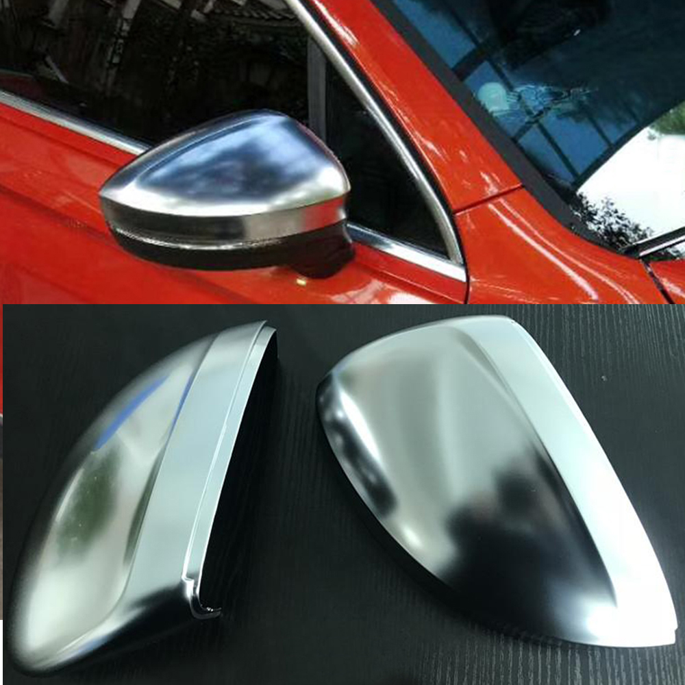 2pcs Rearview Mirror Case Side Mirror Chrome Matt Replacement Cover For VW Tiguan 2nd Gen  2017 2018 abs mirror cover chrome matt painted cap side mirror housings for volkswagen jetta golf 5 passat b6 ct