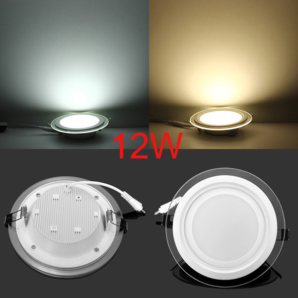 Us 3 55 21 Off 6w 9w 12w 18w Round Led Panel Light Glass Meterial Energy Saving Down Lights Warm White Cold White In Downlights From Lights